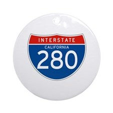 Interstate 280 - CA Ornament (Round)