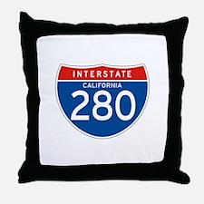 Interstate 280 - CA Throw Pillow