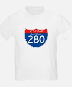 Interstate 280 - CA Kids T-Shirt