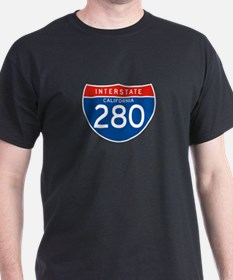 Interstate 280 - CA T-Shirt