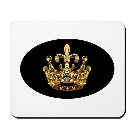 Fleur de lis Crown Jewels Mousepad by artegrity