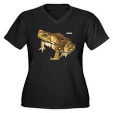 Giant Toad Women's Plus Size V-Neck Dark T-Shirt