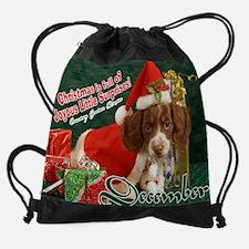 Cool Piebald dachshund Drawstring Bag