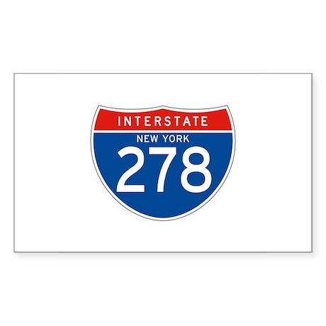 Interstate 278 - NY Rectangle Sticker