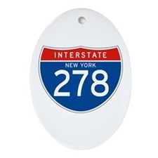 Interstate 278 - NY Oval Ornament
