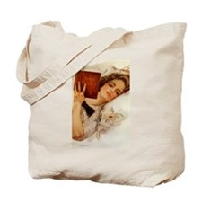 Fisher Girl Reader Lady Vintage Tote Bag