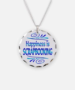 Happiness is Scrapbooking Necklace