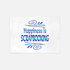 Happiness is Scrapbooking 5'x7'Area Rug