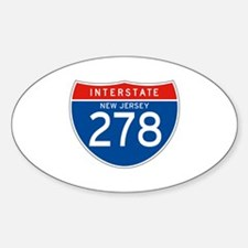 Interstate 278 - NJ Oval Decal