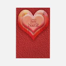 I heart NICU Nurse Rectangle Magnet