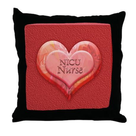 I heart NICU nurse Throw Pillow