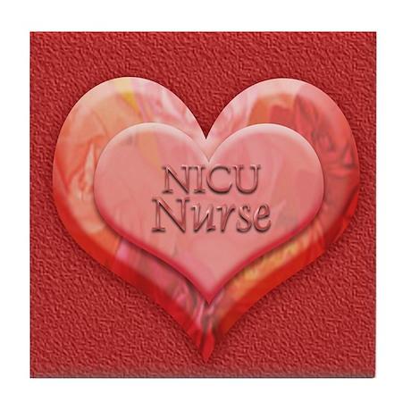 I heart NICU nurse Tile Coaster