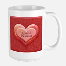 I heart NICU nurse Large Mug