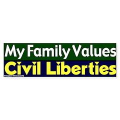 Value Civil Liberties Bumper Bumper Sticker