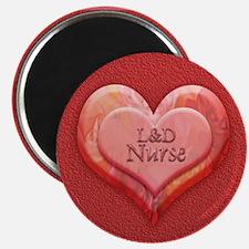 I heart L&D Nurse Magnet