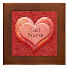 I heart L&D Nurse Framed Tile