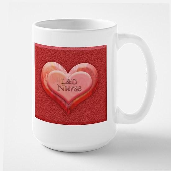 I heart L&D Nurse Large Mug