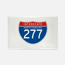 Interstate 277 - NC Rectangle Magnet