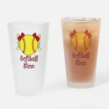 Softball mom blonde Drinking Glass
