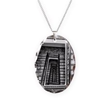 Black and white stairs Necklace