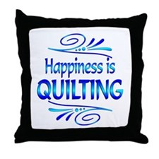 Happiness is Quilting Throw Pillow