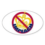 NO KING Oval Sticker