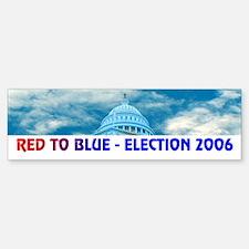 RED TO BLUE Bumper Bumper Bumper Sticker