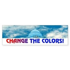 CHANGE THE COLORS! Bumper Bumper Sticker