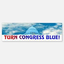 TURN CONGRESS BLUE! Bumper Bumper Bumper Sticker