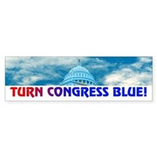 TURN CONGRESS BLUE! Bumper Bumper Sticker