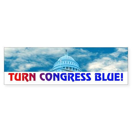 TURN CONGRESS BLUE! Bumper Sticker