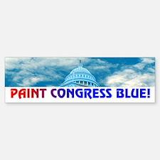 PAINT CONGRESS BLUE! Bumper Bumper Bumper Sticker