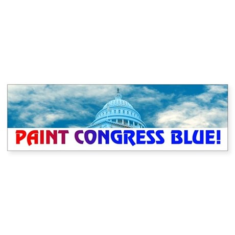 PAINT CONGRESS BLUE! Bumper Sticker