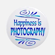 Happiness is Photography Ornament (Round)