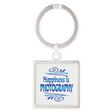 Happiness is Photography Square Keychain