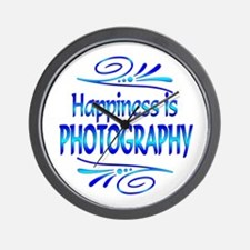 Happiness is Photography Wall Clock