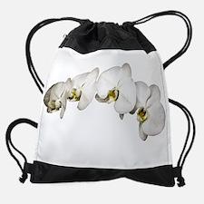 White Orchid Trans ... Drawstring Bag