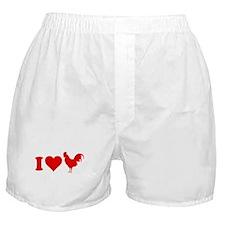 I Love Cock Boxer Shorts