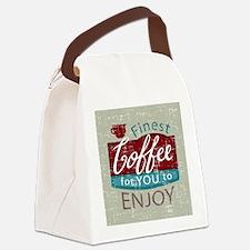 retro style coffe shop advert Canvas Lunch Bag