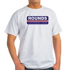 Support Mike Rounds Ash Grey T-Shirt