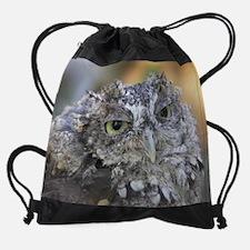 Screech Owl Drawstring Bag