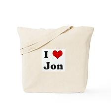 I Love Jon Tote Bag