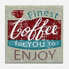 retro style coffe shop advert Tile Coaster