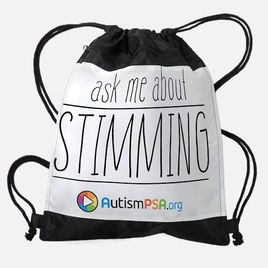 Ask Me About Stimming Drawstring Bag