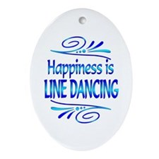 Happiness is Line Dancing Ornament (Oval)