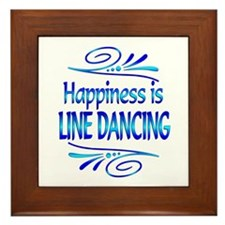 Happiness is Line Dancing Framed Tile
