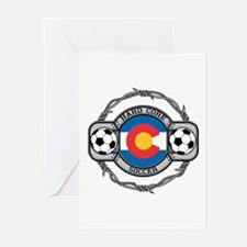 Colorado Soccer Greeting Cards (Pk of 10)