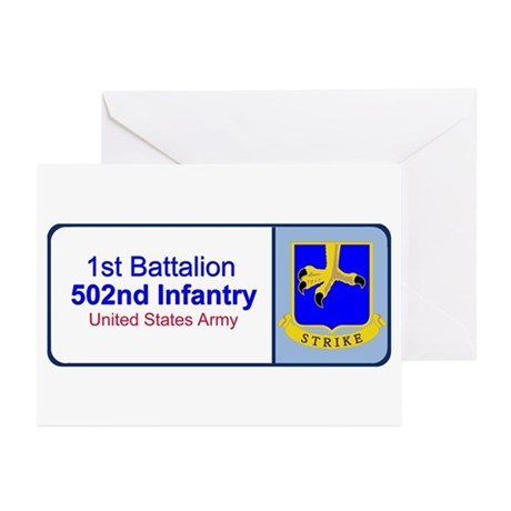 1st Battalion 502nd Infantry Greeting Cards (Packa