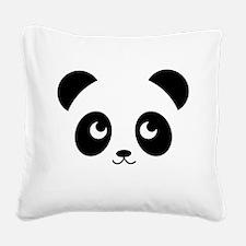 panda smile copy.png Square Canvas Pillow