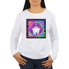 Persian Kitty Cat Graphics Long Sleeve T-Shirt